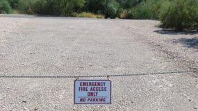 Знак доступа огня Стоковые Изображения RF
