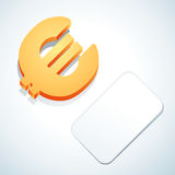 знак евро визитной карточки Стоковые Изображения RF