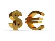 знак евро доллара Стоковое фото RF