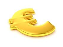 знак евро золотистый Стоковые Фотографии RF