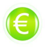 знак евро кнопки Стоковые Фото