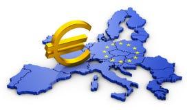 Знак евро на карте бесплатная иллюстрация