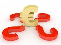 знак евро Стоковые Фото