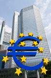 знак евро Стоковое фото RF