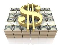 Знак денег и доллара иллюстрация штока