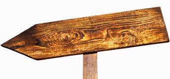Знак деревянной стрелки дирекционный Стоковое Изображение RF