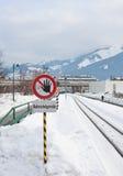 Знак железной дороги Стоковые Изображения
