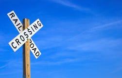 знак железной дороги Стоковое Изображение