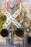 знак железной дороги Стоковое Изображение RF