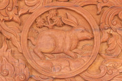 Знак животного зодиака кролика китайский Стоковое фото RF