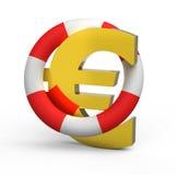 знак жизни евро томбуя Стоковая Фотография RF