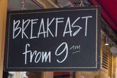 Знак завтрака ресторана Стоковые Фото