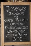 Знак завтрака Стоковое фото RF