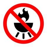 Знак запрета барбекю запрещенный стопом иллюстрация штока
