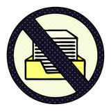 знак запрета бумаги мультфильма стиля комика иллюстрация вектора