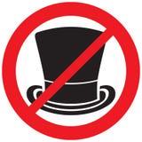Знак запрета верхней шляпы иллюстрация вектора