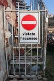 Знак запрета знака Стоковые Изображения RF