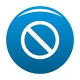 Знак запрета или отсутствие вектор сини значка знака бесплатная иллюстрация