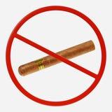 Знак запрета с сигарой иллюстрация штока