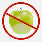 Знак запрета с Яблоком бесплатная иллюстрация