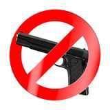Знак запрета, там никакая война иллюстрация штока