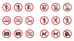 Знак запрета установил - никакой дым, никакие собаки не позволил, никакое фото etc иллюстрация штока