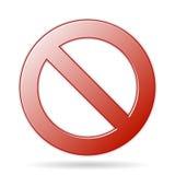 Знак запрета Стоковые Изображения RF