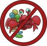 Знак запрещая проход с иллюстрацией вектора мороженого бесплатная иллюстрация
