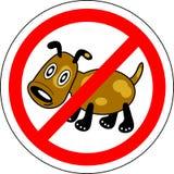 Знак запрещая собак Стоковое Изображение