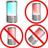 знак запрещения мобильного телефона Стоковое Фото