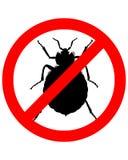 знак запрещения bedbugs Стоковые Изображения RF