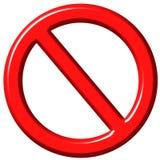 знак запрещенный 3d Стоковое Изображение RF