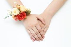 Знак запястья руки цветка в наличии стоковое изображение