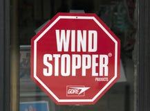 Знак затвора ветра Стоковая Фотография