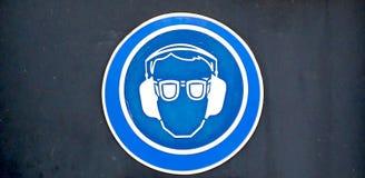 Знак защитного оборудования Стоковые Фото