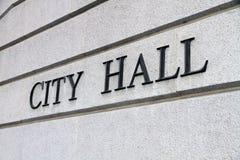 знак здание муниципалитет Стоковые Изображения RF