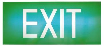знак зеленого цвета аварийного выхода Стоковые Изображения RF