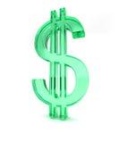 знак зеленого цвета доллара 2 3d Стоковые Фотографии RF