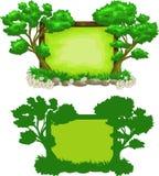 знак зеленого цвета пущи Стоковые Изображения
