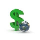 знак земли доллара Стоковые Фотографии RF