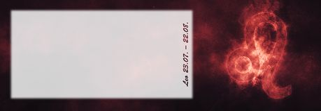 Знак зодиака Лео Знак гороскопа Лео Комната текста шаблона Стоковое Изображение RF