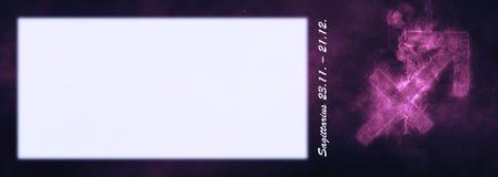 Знак зодиака Стрелца Знак гороскопа Стрелца Te шаблона Стоковая Фотография RF