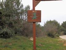 Знак зоны динозавра Стоковое Изображение RF