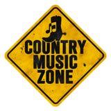 Знак зоны музыки кантри Стоковое Изображение