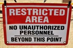 знак зоны ограниченный Стоковая Фотография