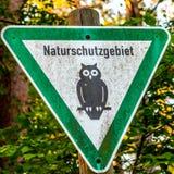 Знак зоны переговора природы Стоковые Фото
