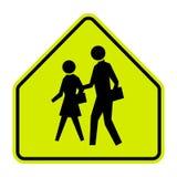 Знак зоны школы на белой предпосылке иллюстрация вектора