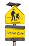 Знак зоны школы. Стоковая Фотография RF