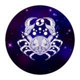 Знак зодиака Карциномы, символ гороскопа, иллюстрация вектора Стоковые Фотографии RF