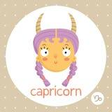 Знак зодиака козерога, девушка с рожками Стоковая Фотография RF